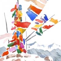 Gebetsfahnen, Ladakh, 2014