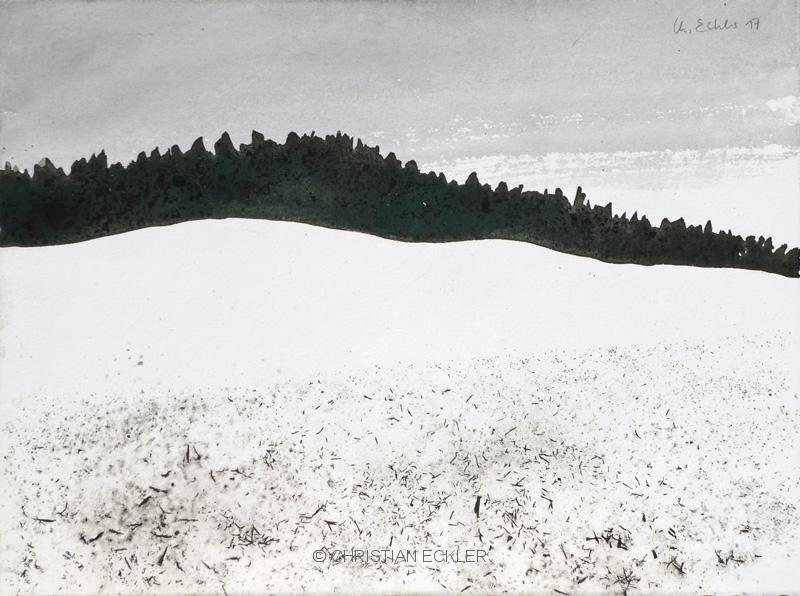 Verschneite Felder, 2017