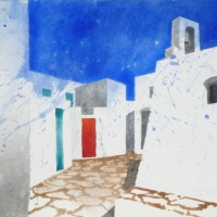 Kirchplatz, Chora Amorgos, GR, 2018