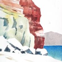 Felsküste 01, Milos, GR, 2018