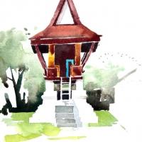 Tempelschrein, Laos, 2012