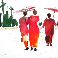 Nonnen, Myanmar, 2011