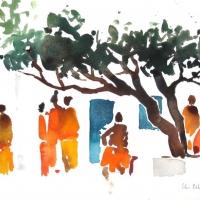 Unterm Baum, Laos, 2012