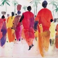 Auf dem Weg zum Markt, Indien, 2002