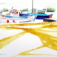 Fischerboote, Amorgos, 2010