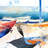 Boote, Stromboli, 2011