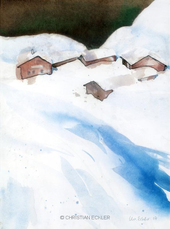 Verschneite Alm, 2005