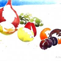 Obst mit Kürbis I, 2009